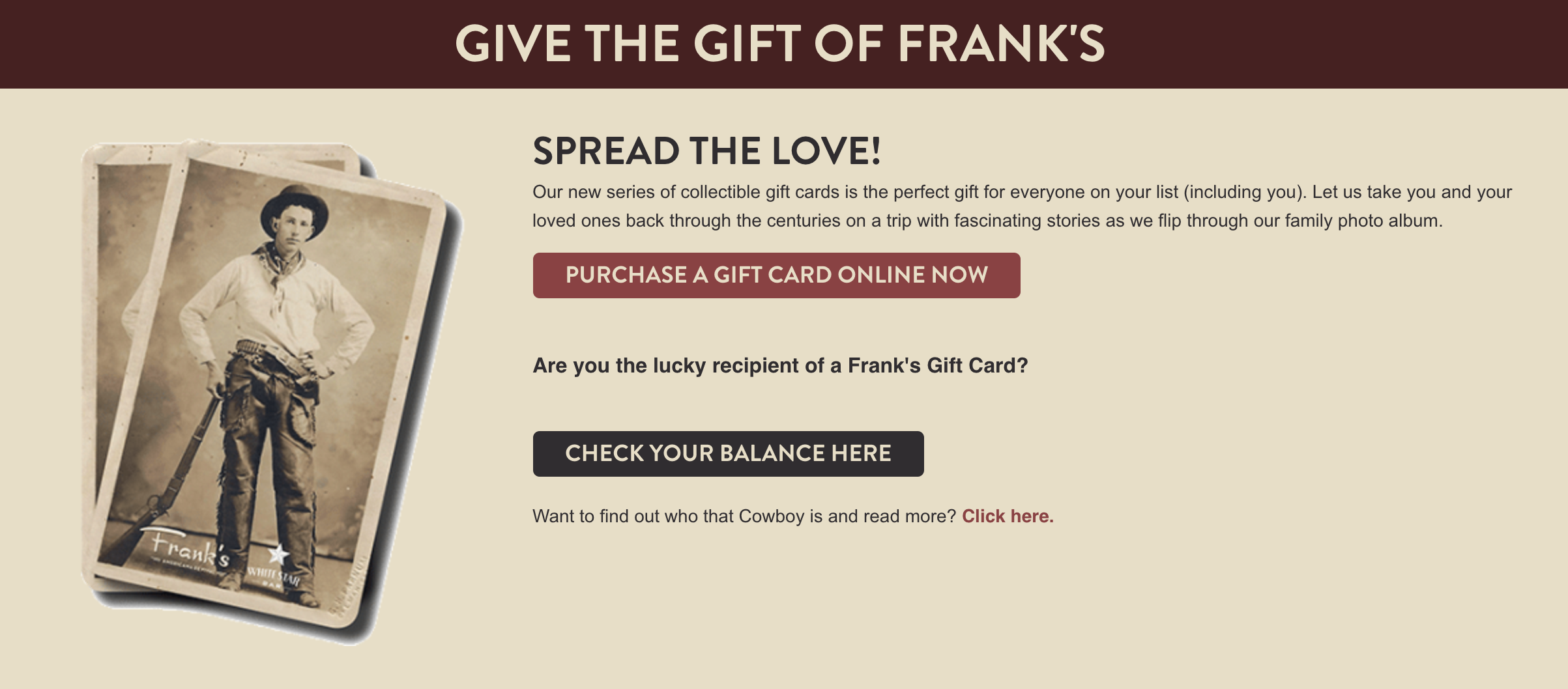 Frank's website by Blue Sky Marketing