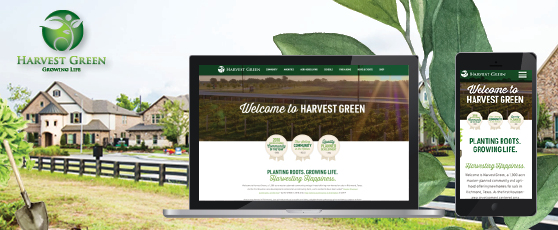 Harvest Green Website Mock Up